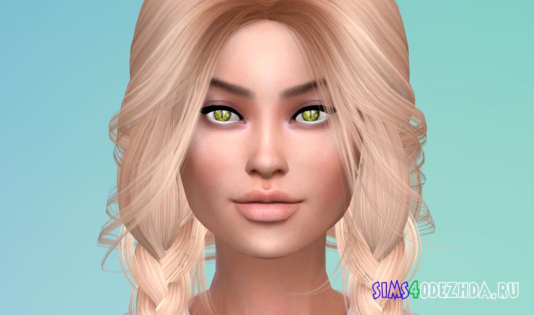 Желтые глаза демона для Симс 4 – фото