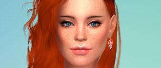 Женские брови в 10 цветах для Симс 4 – фото 1