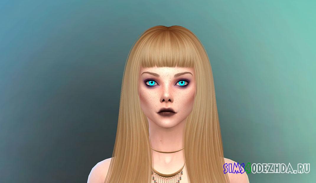 Симка-вампир с голубыми глазами для Симс 4 - фото 1