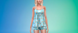 Симпатичная пижама для Симс 4 – фото 1