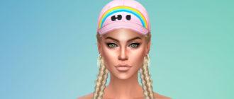 Женские модные кепки для Симс 4 – фото 1