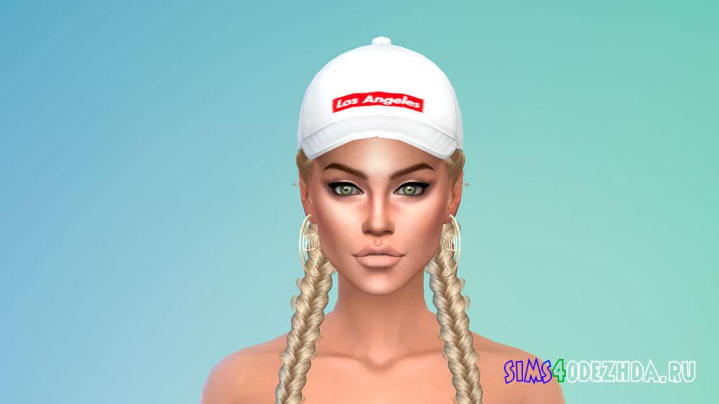 Женские модные кепки для Симс 4 – фото 2