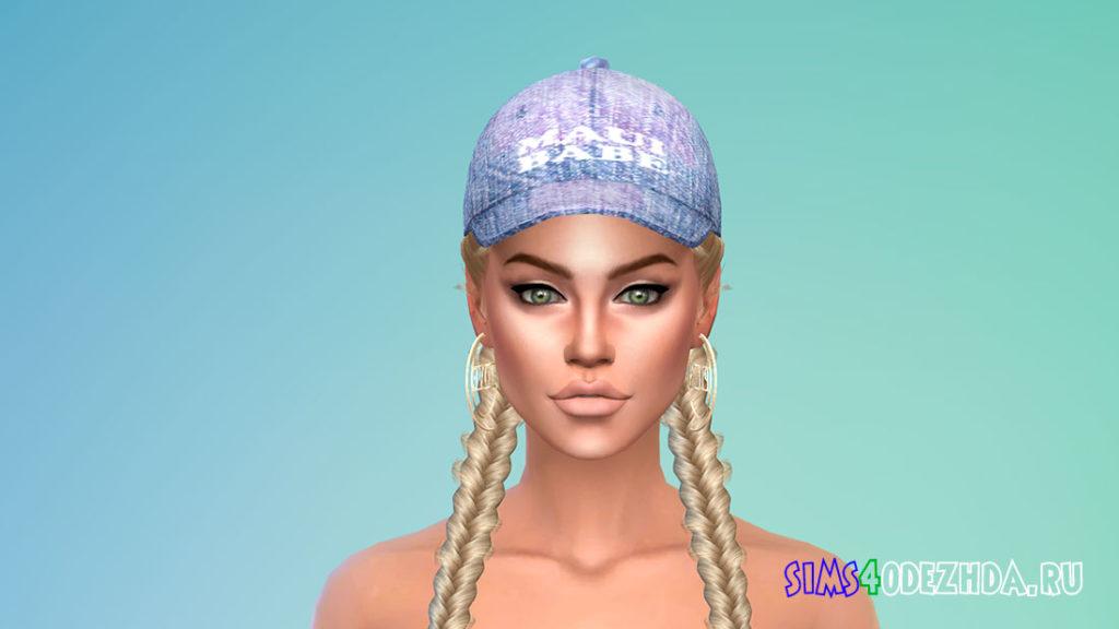 Женские модные кепки для Симс 4 – фото 3