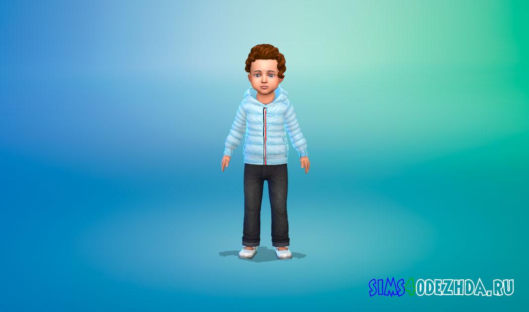 Дутая куртка для малышей для Симс 4 – фото 1
