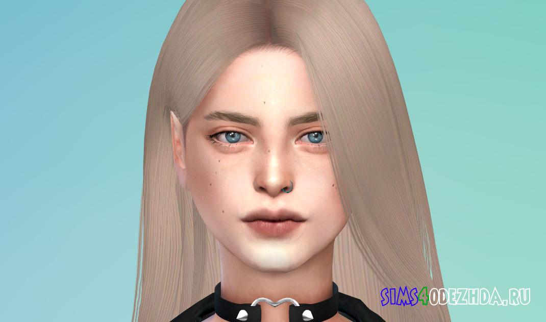 Двойной пирсинг носа для Симс 4 – фото 1