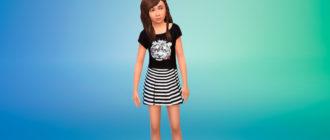 Коллекция платьев для девочек для Симс 4 – фото 1