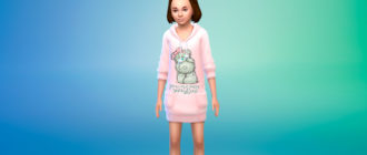 Коллекция свитеров для девочек для Симс 4 – фото 1