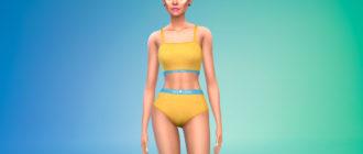 Комплект нижнего белья для женщин для Симс 4 – фото 1