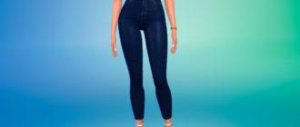 Короткие джинсы скинни для Симс 4 – фото 1