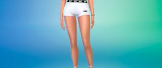 Короткие женские шорты Найк для Симс 4 – фото 1