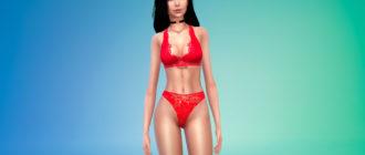 Кружевное нижнее белье для женщин для Симс 4 – фото 1