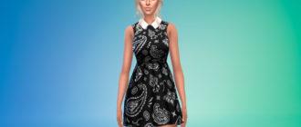 Милое мини-платье в готическом стиле для Симс 4 – фото 1