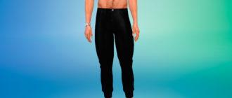 Мужские вельветовые брюки для Симс 4 – фото 1