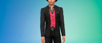 Мужской стильный костюм для Симс 4 – фото 1