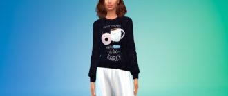 Пижамные свитера для женщин для Симс 4 – фото 1