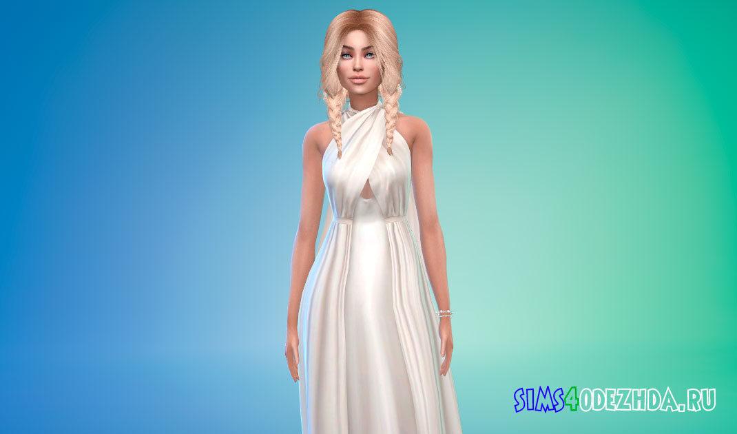 Платье Дейенерис из Игры престолов для Симс 4 – фото 1