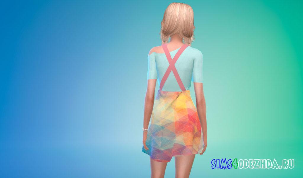 Платье-комбинезон для Симс 4 – фото 3