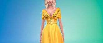 Платье Мирцеллы Баратеон из Игры престолов для Симс 4 – фото 1