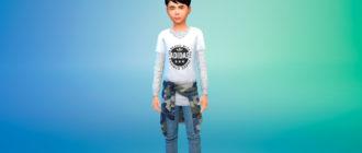 Повседневные наряды для детей (унисекс) для Симс 4 – фото 1