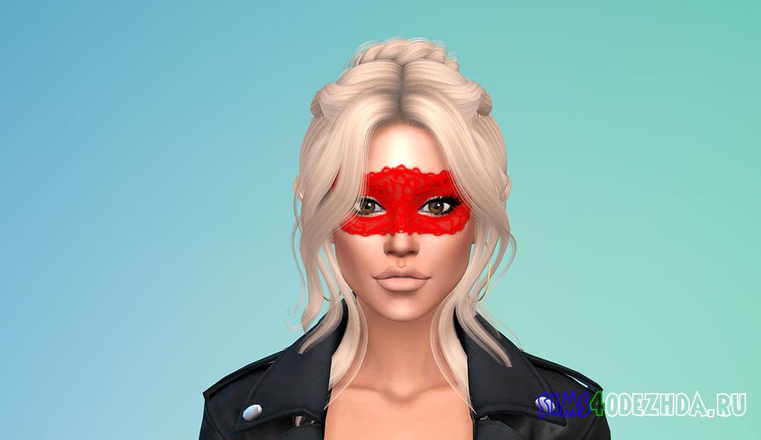 Простая кружевная маска для женщин для Симс 4 – фото 1