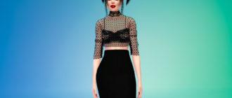 Прозрачная женская блузка для Симс 4 – фото 1