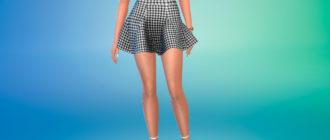 Пышная мини-юбка для Симс 4 – фото 1