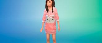 Симпатичные теплые свитера для девочек для Симс 4 – фото 1