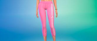 Спортивные леггинсы Adidas для женщин для Симс 4 – фото 1