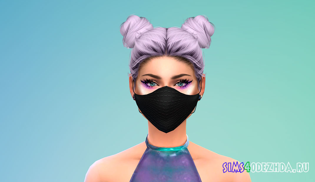 Стильная маска на лицо с узорами для Симс 4 – фото 1