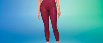 Укороченные брюки скинни для Симс 4 – фото 1