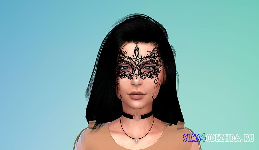 Женская кружевная маска для Симс 4 – фото 1