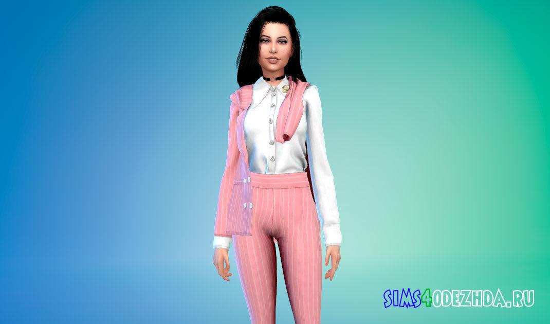 Женский костюм Гуччи для Симс 4 – фото 1
