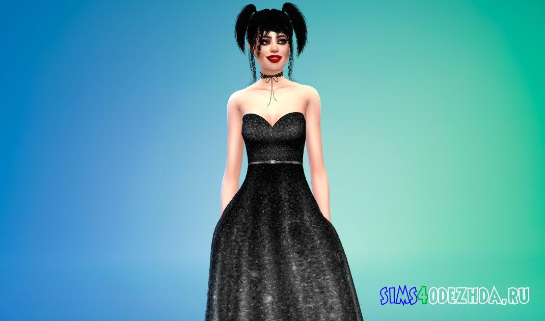 Блестящее бальное платье для Симс 4 – фото 1
