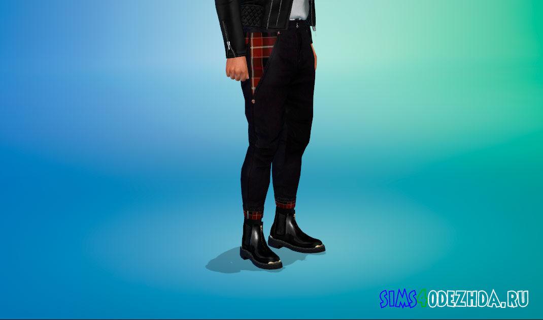 Ботинки челси для мужчин для Симс 4 – фото 1