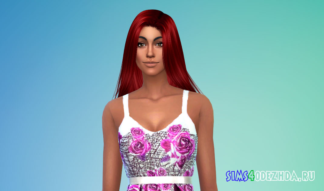 Длинные прямые волосы для женщин для Симс 4 – фото 1