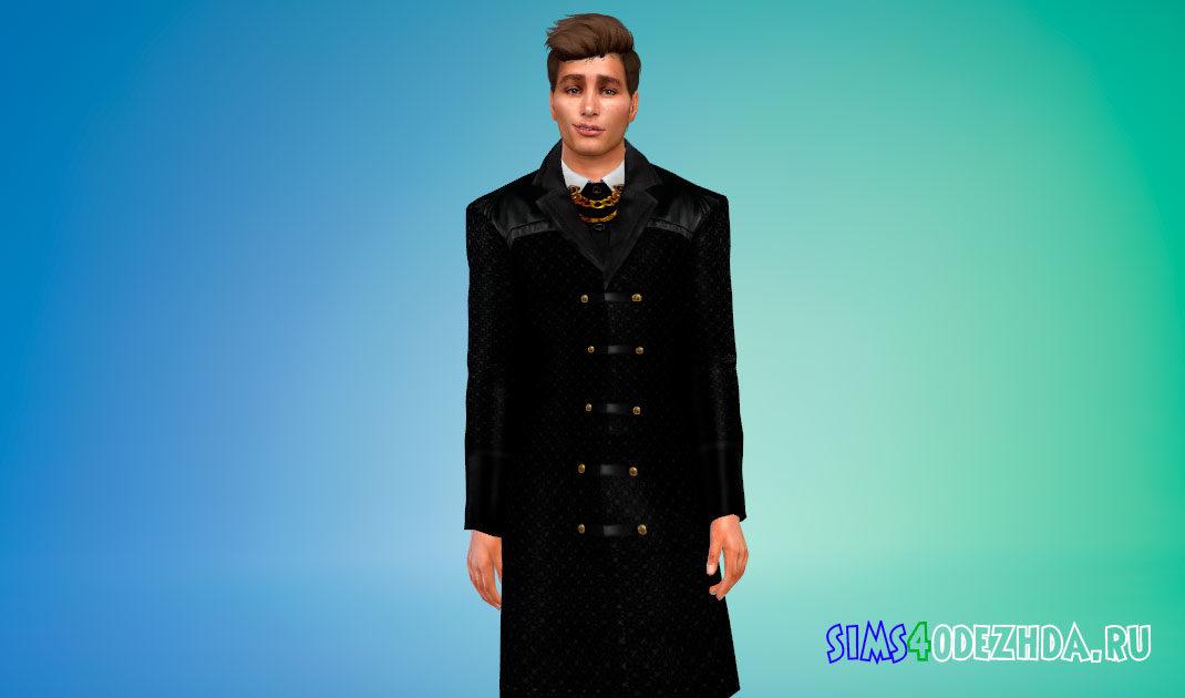 Готическое мужское пальто для Симс 4 – фото 1