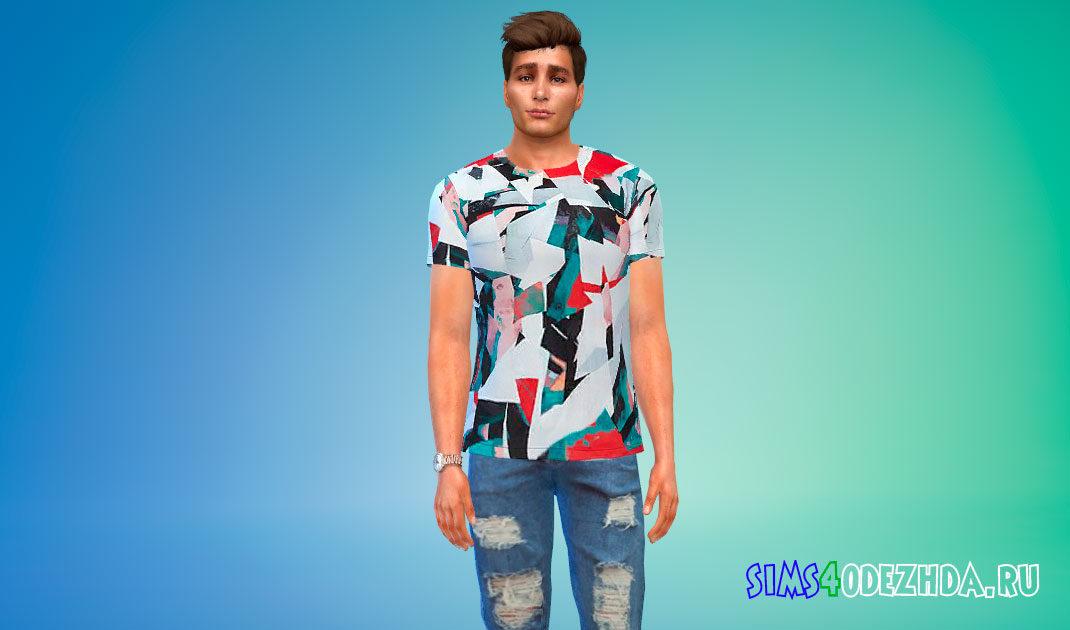 Яркие мужские футболки для Симс 4 – фото 1