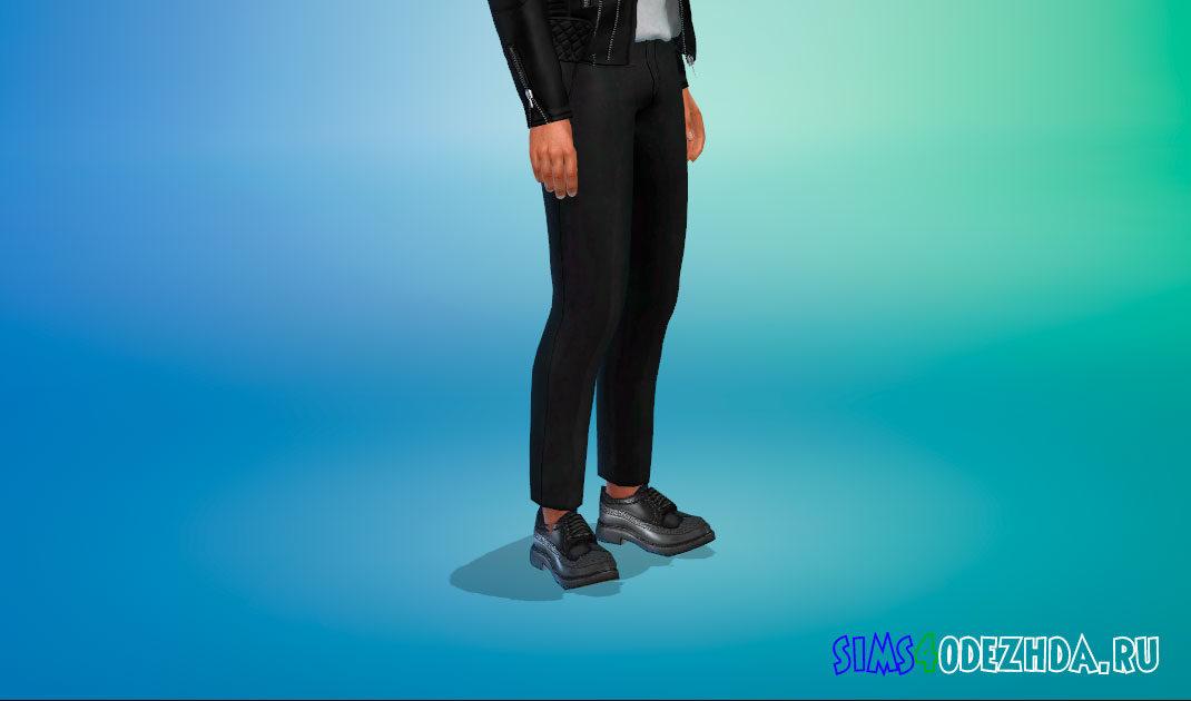 Элегантные туфли дерби для Симс 4 – фото 1