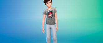Коллекция стильных футболок для мальчиков для Симс 4 – фото 1