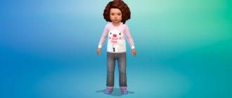 Милые свитера для малышей для Симс 4 – фото 1