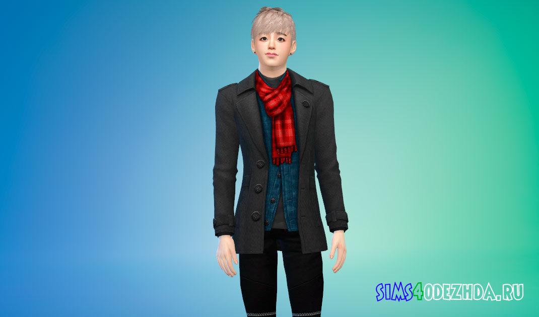 Модное и стильное пальто для ваших симов для Симс 4 – фото 1