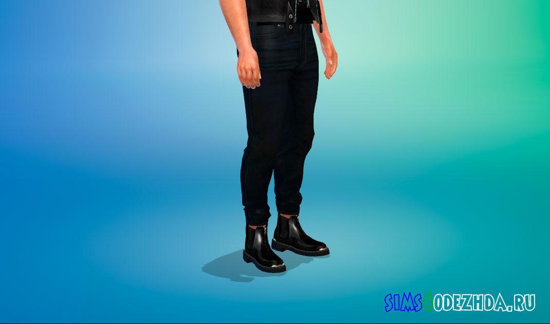 Мужские ботинки челси для Симс 4 – фото 1