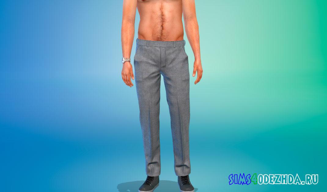 Мужские стильные брюки для Симс 4 – фото 1