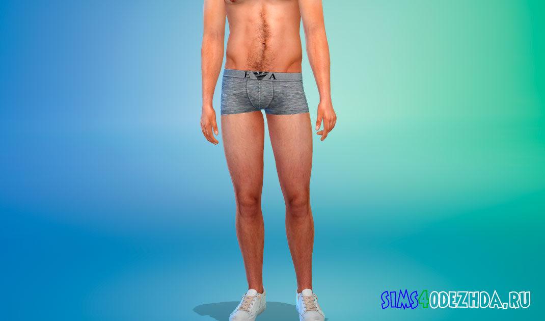 Нижнее белье для мужчин от Армани для Симс 4 – фото 1