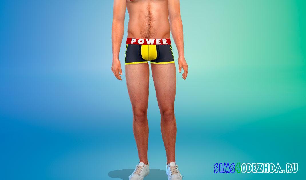 Нижнее белье Power для Симс 4 – фото 1