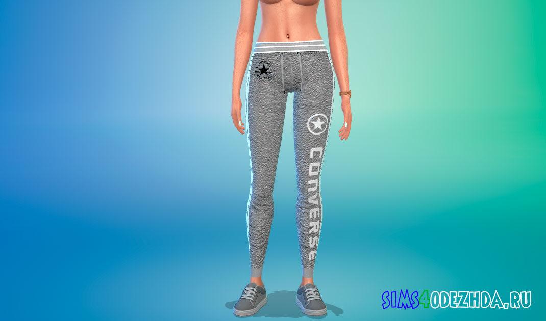 Пак со спортивными штанами для девушек для Симс 4 – фото 1