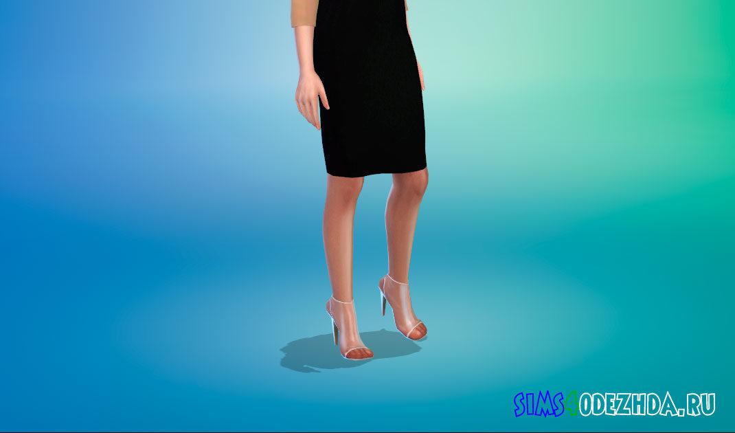 Прозрачные туфли на каблуке для Симс 4 – фото 1
