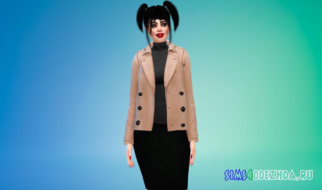 Женский стильный жакет для Симс 4 – фото 1