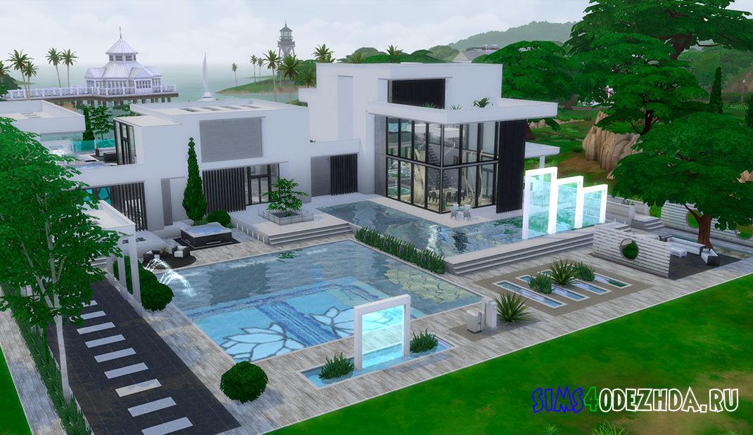 Дом в стиле модерн для Симс 4 – фото