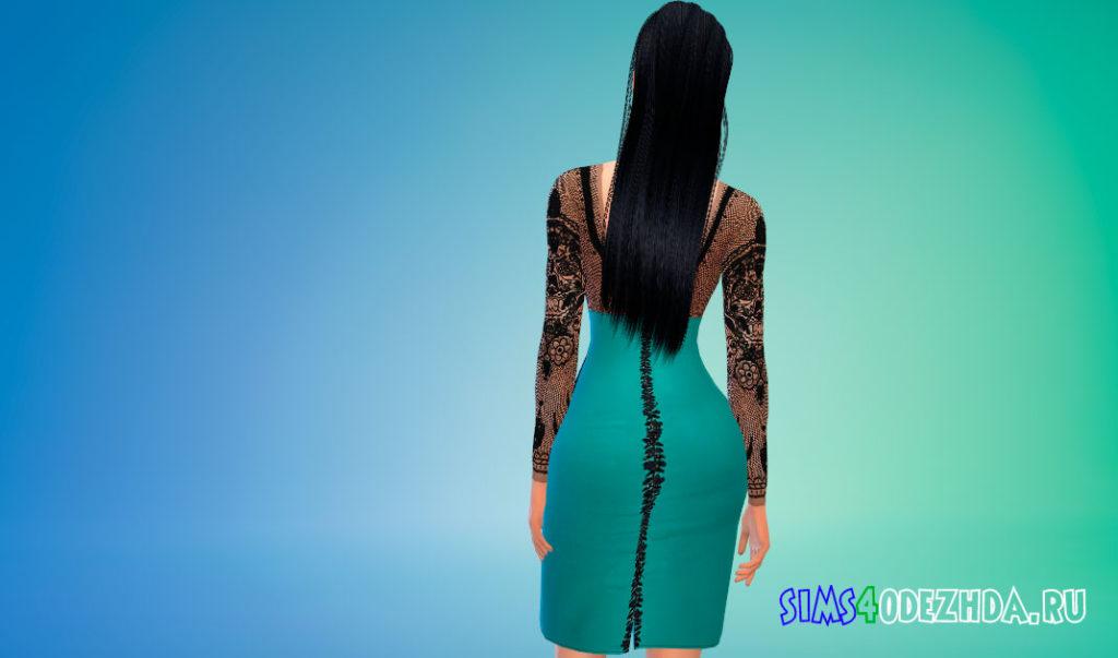 Кружевное платье Ким Кардашьян для Симс 4 – фото 3